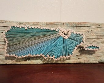 Puerto Rico Driftwood String Art