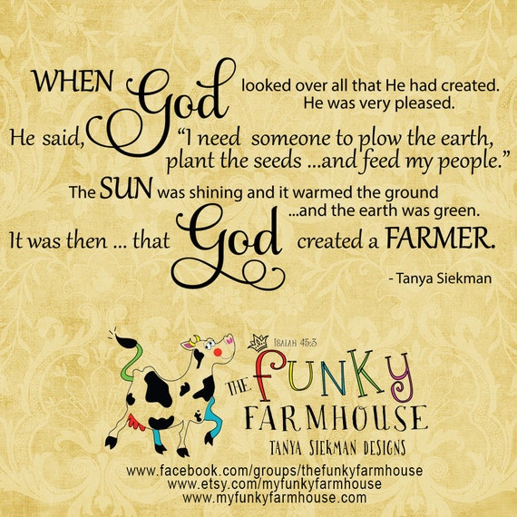 "SVG & PNG  - ""God and the Farmer"""