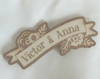 Corsage Pin in Banner Shape