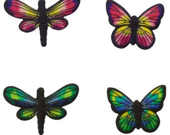 12 Pack Butterflies & Dragonflies Edible SugarSoft Cake and Cupcake Decorations