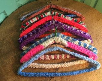 10 Crocheted Hangers
