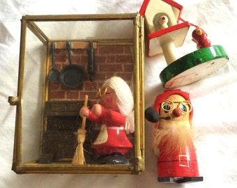 Bundle of three wooden figurines