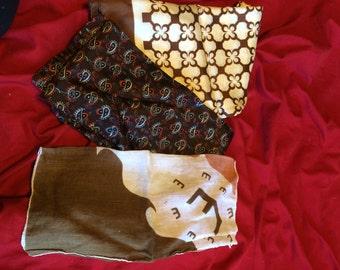 set of three vintage fabric pieces