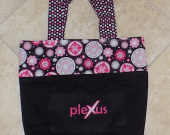 Plexus tote bag, Reusable Grocery Bag, Canvas Tote Bag, Embroidery Design, Pink Drink, Plexus, Mother's Day Gift, Personalized Tote bag
