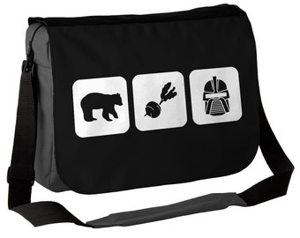 Bears Beets Battlestar Galactica - Messenger Bag - Inspired by The Office / Dwight Schrute - Choice of Black/White