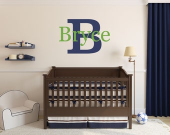 Personalized Name Nursery Monogram Wall Decal Sticker