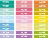 Repositionierbar Arbeit Rubrik Aufkleber, Header Aufkleber, Sticker, Tagesordnung Notebook Journal, Erinnerung Eclp Filofax glücklich Planer
