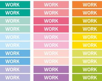 Repositionable Work Heading stickers, planner header sticker, planner stickers, agenda notebook journal, reminder eclp filofax happy planner