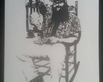 WWE Bray Wyatt of The Wyatt Family Ink Drawing