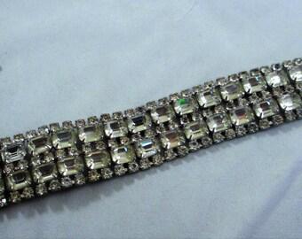 Vintage Chunky Rhinestone Bracelet
