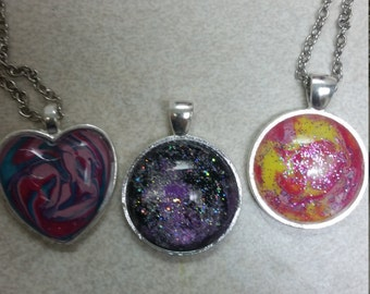 customized painted necklace