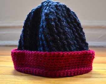 Ribbed Crochet Hat
