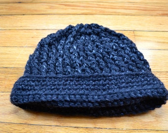 Chunky Ribbed Crochet Hat