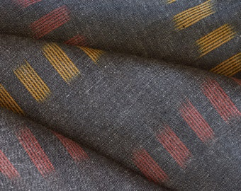 Ikat, Hand Woven, Home Spun, Indian Fabric, Fabric by the yard, Upholstery Fabric, Grey Ikat, Fabric, IKAT FABRIC