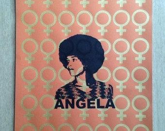 Angela Davis feminist poster