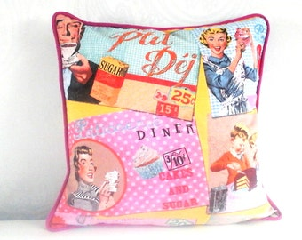 Handmade Retro cushion