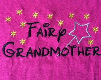 Personalized Disney Fairy Grandmother Shirt, Onesie, Dress, name, Applique, Customized,