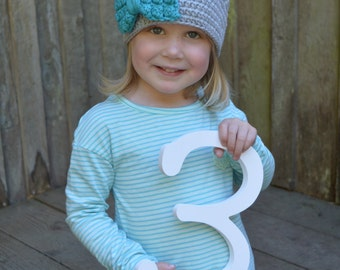 toddler size crochet beanie with bow