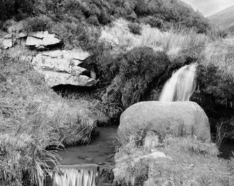 Kinder Scout Pool / Peak District / Derbyshire / Waterfall / Nature / Wall Art / Print