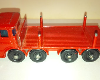 Vintage Lesney Matchbox Diecast Car : No. 10 Pipe Truck 1960's Made In England