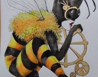 Queen Bee Steampunk Queen Bee original artwork steampunk fantasy art