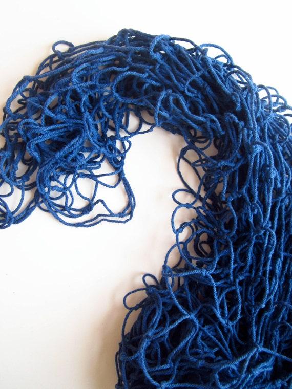 Navy blue net decorative fish net fishing by for Fish netting decor