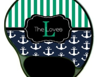 Preppy Mouse Pad. Design Your Own!  With Chevron, Nautical, Polka Dots, etc.