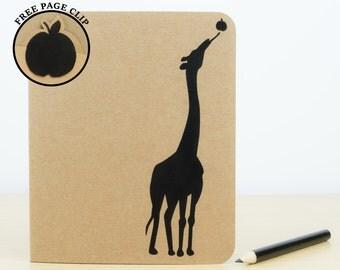 Giraffe Notebook - Personalised notebook, Cute stationery, Journal, Notepad, Personalized journal, Cute notebook, Stationary, Giraffe gift