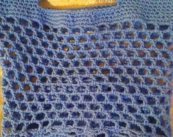 Light Blue Open Weave Market Bag Reusable Bag!