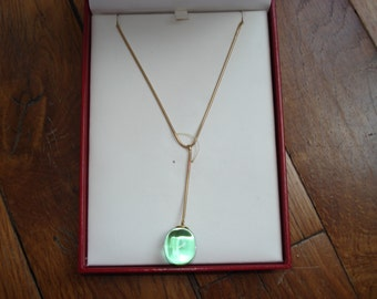 Necklace in 18 K gold and Pearl Crystal Baccarat