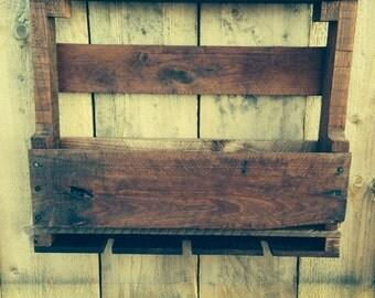 Handmade reclaimed wood wine rack