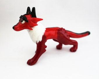 Handpainted OOAK Red Fox