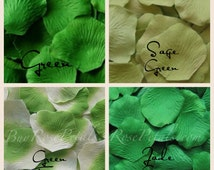 Green Rose Petals - Shades of Green Silk Rose Petals