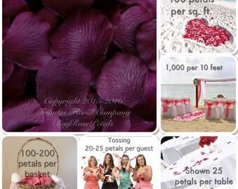 Eggplant Rose Petal Value Pack - 1,000 Silk Rose Petals