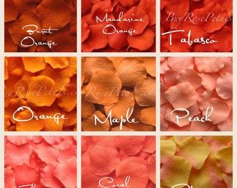 1,500 Orange Rose Petals - Shades of Orange Silk Rose petals