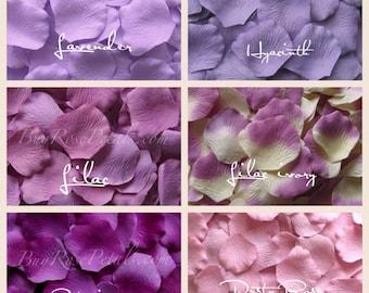 Lavender Rose Petals - 1,500 Silk Rose Petals