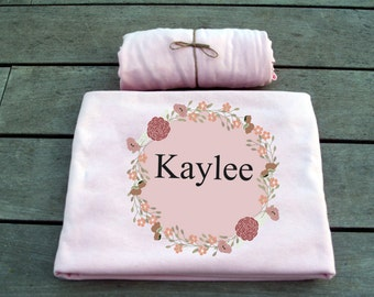 Personalized Girl bed settings, Toddler Bedding Set, fitted sheet, douvet cover, nursery bedding, baby bedding set, personalized bedding