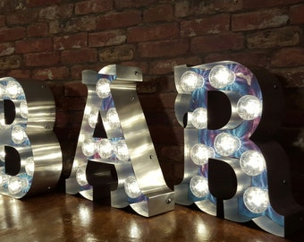 Marquee light up letters Circus Font set.'BAR'