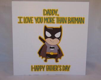 Handmade Father's Day Card- Batman