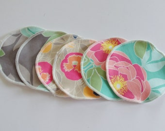 """Washable Thin Nursing Pads 5"""" (12.5 cm) Light Absorbency Whispers Reusable Cloth Breast Pads"""