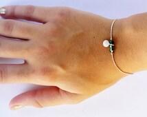 Charm Bracelet, beaded  bracelet, Silver Disc bracelet, silver bracelet, best friend bracelet, Gold Bracelet, swarovski beaded bracelet