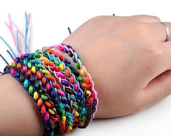 Multicolor friendship bracelet friendpurse