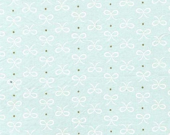 Wee Sparkle by Michael Miller - Bitty Bows Mist - Cotton Woven Fabric - CLEARANCE