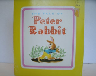 The Tale of Peter Rabbit, Beatrix Potter, 1960s Vintage Children's Book, 1961, Vintage Illustrations, Vintage Ephemera