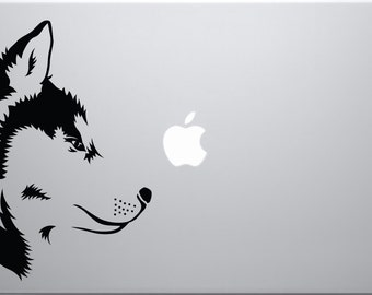 Husky Dog decal for laptops