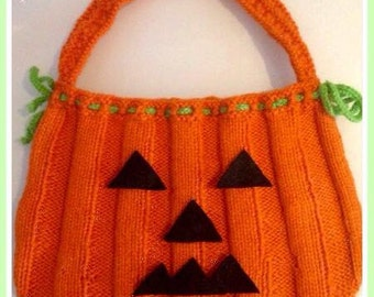 Halloween Pumpkin Trick or Treat Knitting Bag
