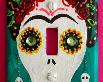Frida Kahlo Day-of-the-Dead single light switch plate