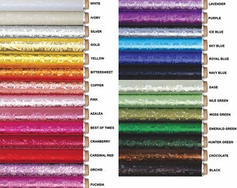 Guardsman Poly Embossed Foil - 14 COLORS - Cake Drum / Florist Foil Cake Decorating Wrapping Paper