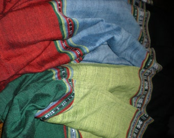 """Handwoven Ethiopian 24"""" x 64"""" Cotton Scarf   FREE Shipping within US"""