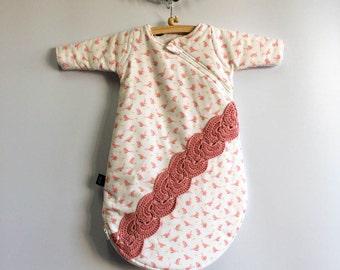 Organic Sleeping Bag 1 - 2 months: 'Pink Spring'